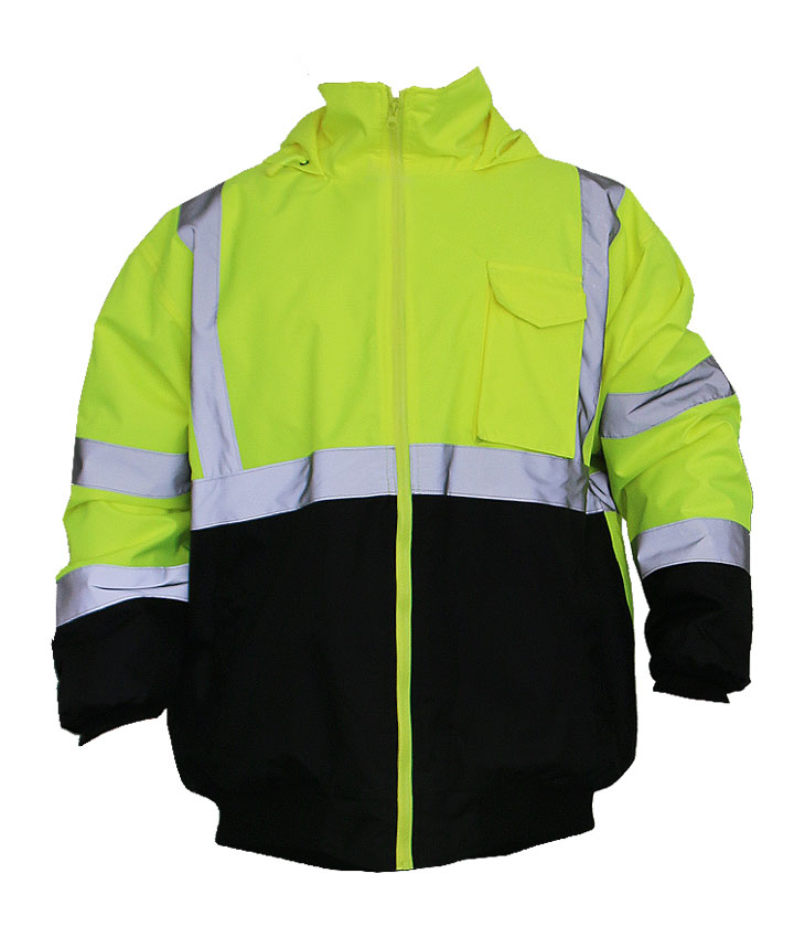Lime/Black Bomber Jacket