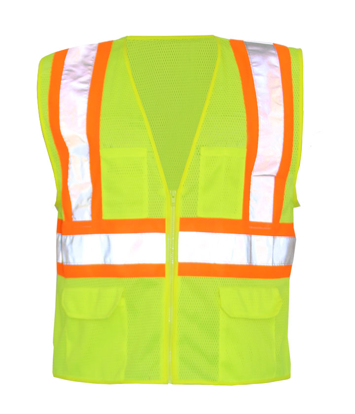 Lime/Orange safety vest
