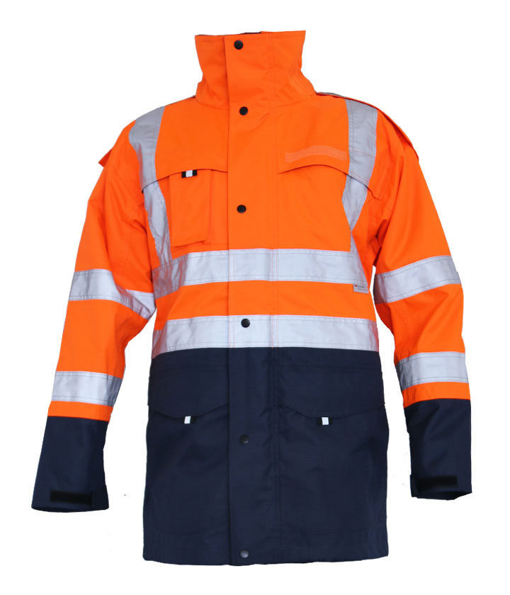 Hi Vis Orange/Navy Two Tone Parka