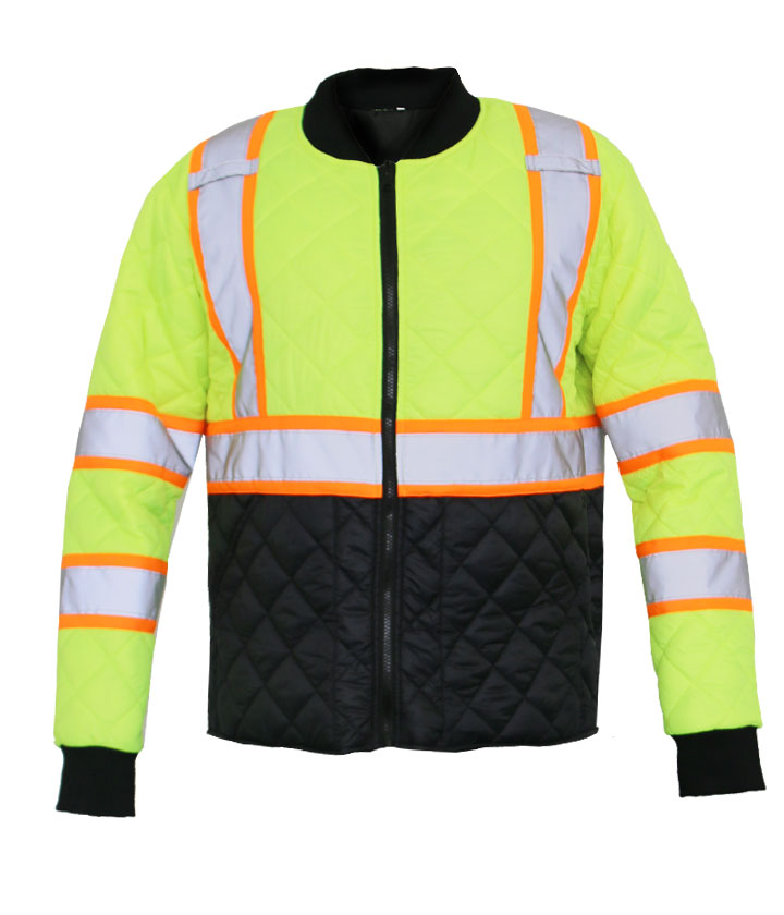Lime/Black Padded Jacket